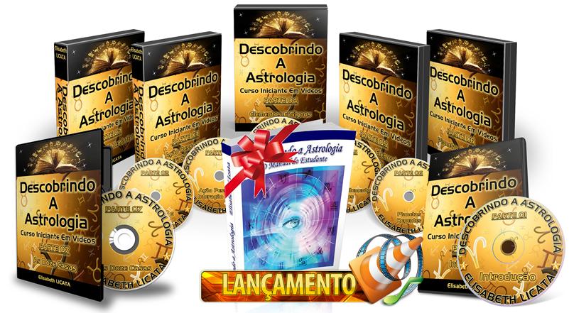 Astrologia lançamento curso em videos online